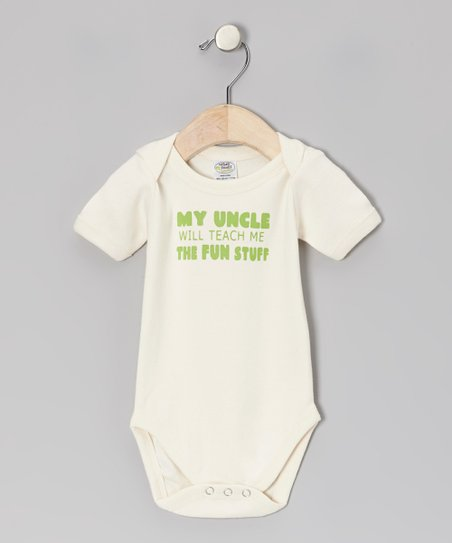 Natural 'My Uncle Will' Organic Bodysuit - Infant