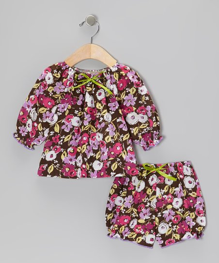 Pink Floral Top & Bloomers - Infant