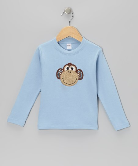 Blue Monkey Tee - Toddler