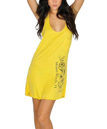 Yellow Racerback Tank Dress