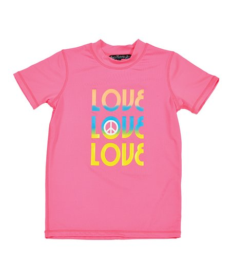 Neon Pink & Yellow 'Love' Rashguard