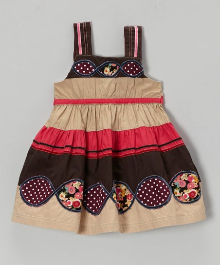 Khaki Stripe Dress - Infant, Toddler & Girls