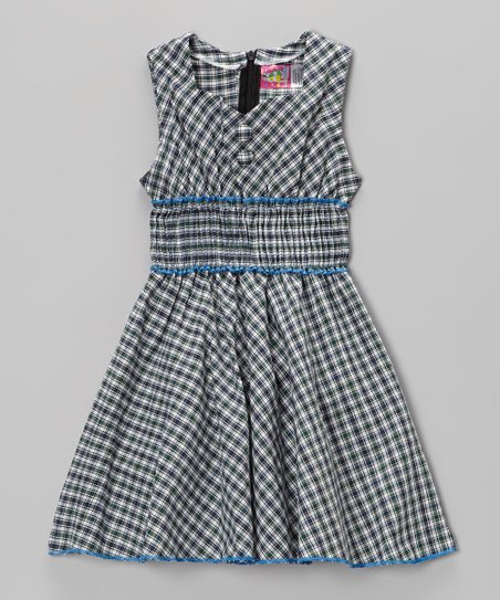 Gray Plaid Dress - Toddler & Girls