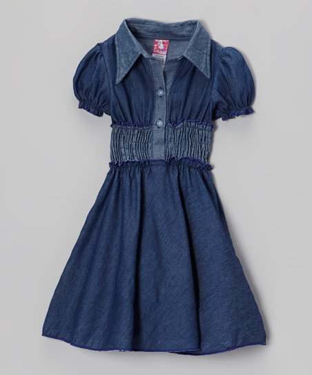 Blue Denim Dress - Toddler & Girls