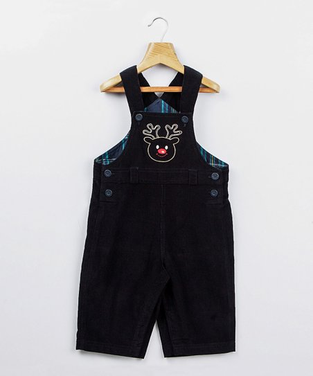 Navy Reindeer Overalls - Infant & Toddler