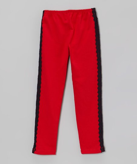Red & Black Lace Pants - Infant & Toddler