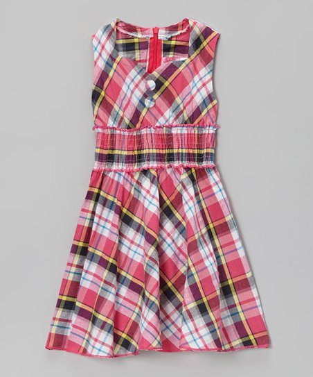 Pink Plaid Sweetheart Dress - Toddler & Girls