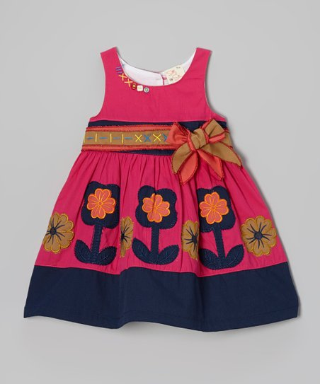 Fuchsia & Purple Flower Dress - Infant, Toddler & Girls