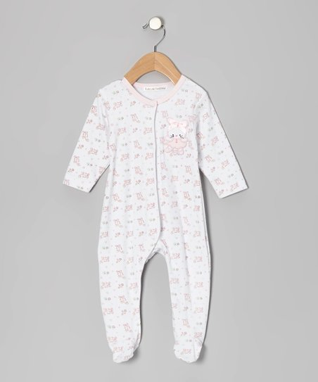 Pink Ballet Bunny Footie - Infant