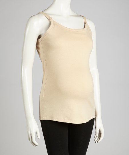 Nude Maternity & Nursing Tank - Women