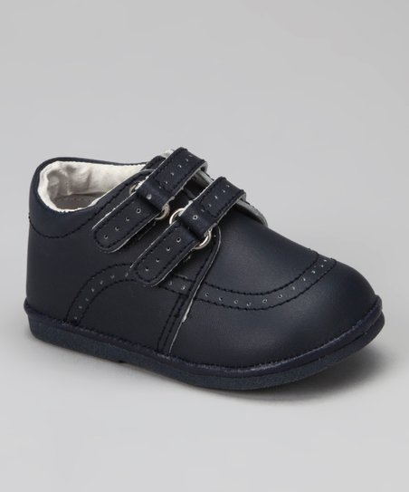 Navy Double-Strap Loafer