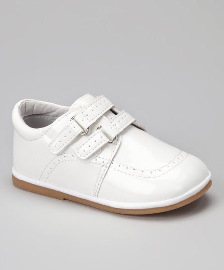 White Patent Double-Strap Loafer