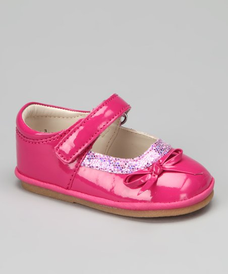 Fuchsia Patent Glitter Mary Jane