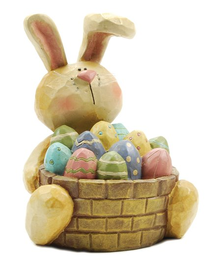 Bunny & Egg Basket Collectible