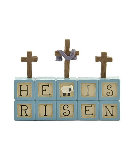 &#039;He is Risen&#039; Cross Collectible