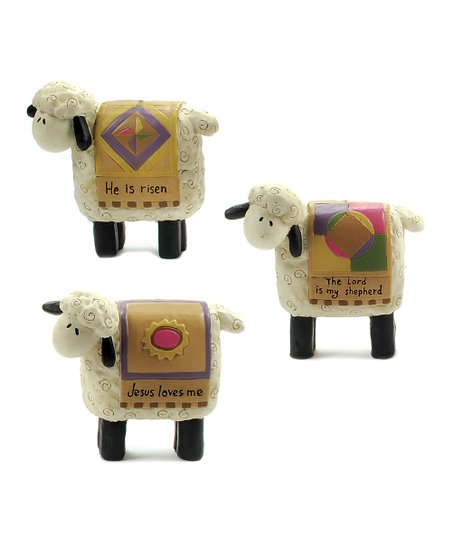 &#039;Jesus Loves Me&#039; Sheep Collectible Set