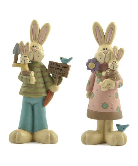 Gardening Bunny Collectible Set