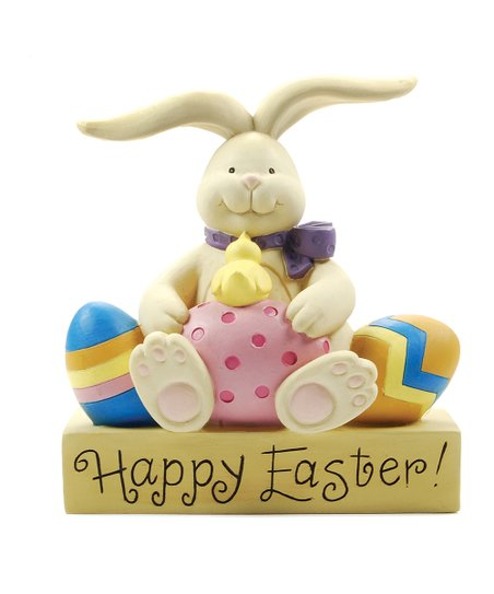 'Happy Easter' Bunny & Chick Collectible