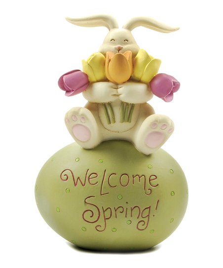'Welcome Spring' Egg & Bunny Collectible