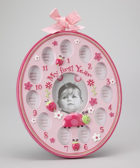 Pink 'My First Year' Picture Frame