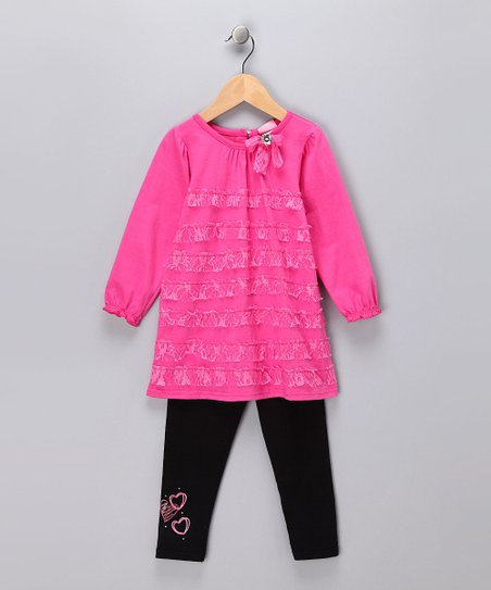 Pink Lace Dress & Leggings - Toddler