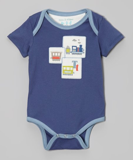 True Navy Train Bodysuit - Infant