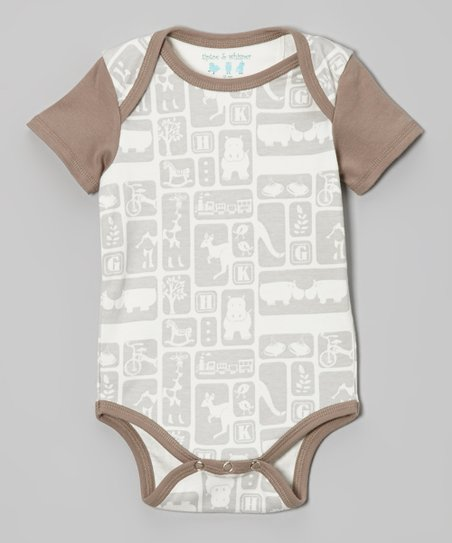 Vapor Gray Toy Blocks Bodysuit - Infant