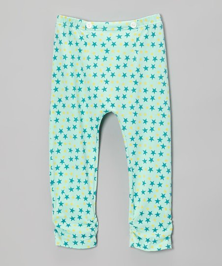 Sea Glass Star Ruched Leggings - Infant