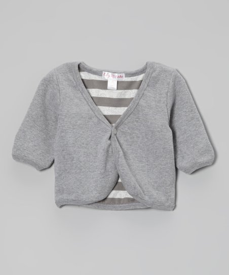Heather Gray Cardigan - Toddler & Girls