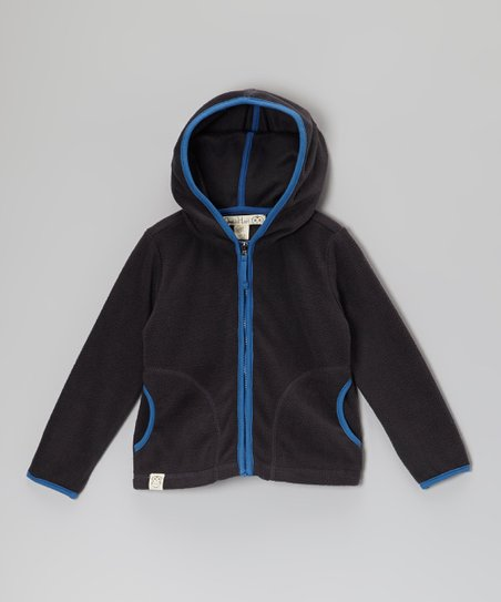 Charcoal Polar Fleece Zip-Up Hoodie - Toddler & Boys