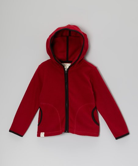 Red Polar Fleece Zip-Up Hoodie - Toddler & Boys