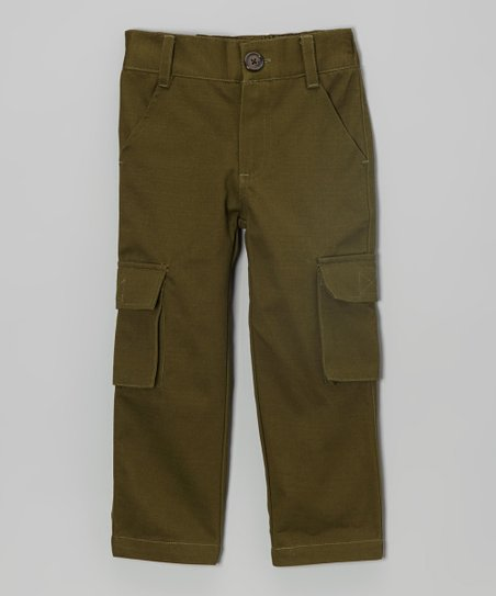 Olive Twill Cargo Pants - Toddler & Boys