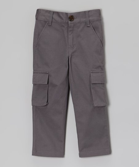 Gray Twill Cargo Pants - Toddler & Boys