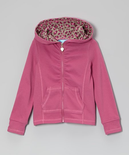 Raspberry Rose Zip-Up Hoodie - Toddler & Girls