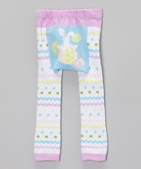 White Bunny Leggings - Infant