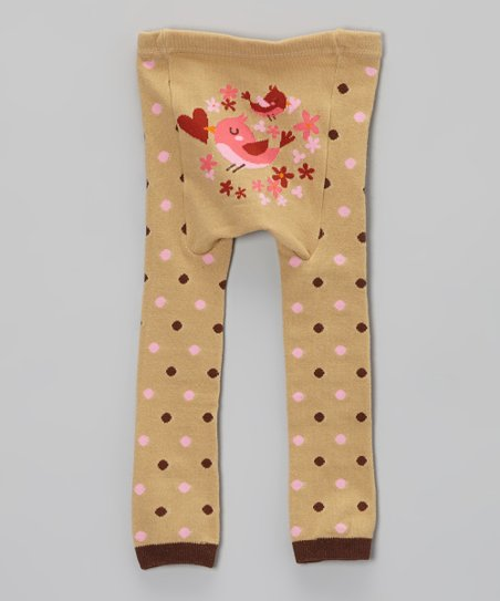 Tan Tweet Tweet Bird Leggings - Infant