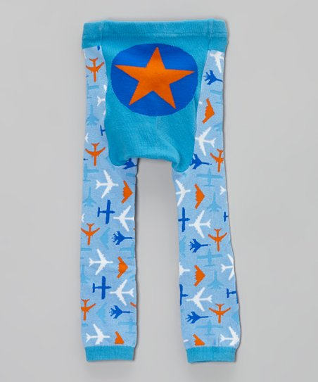 Blue Airplane Leggings - Infant