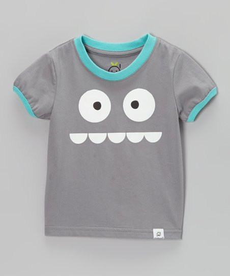 Gray & Blue Silly Monster Tee - Infant