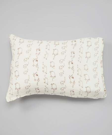 Natural & Brown Farm Animals Organic Pillowcase