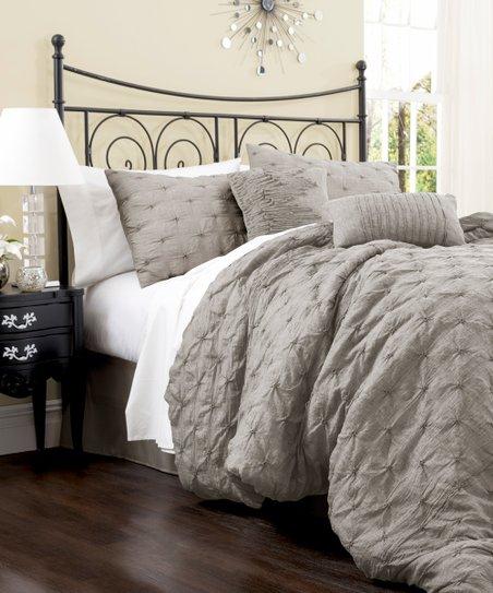 Gray Lake Como Comforter Set