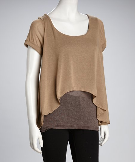 Gold Vera Hi-Low Layered Top