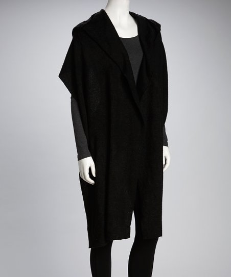 Luna Claire Black Twilight Hooded Wrap