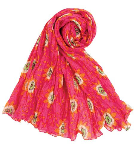 Pink Passion Flower Scarf