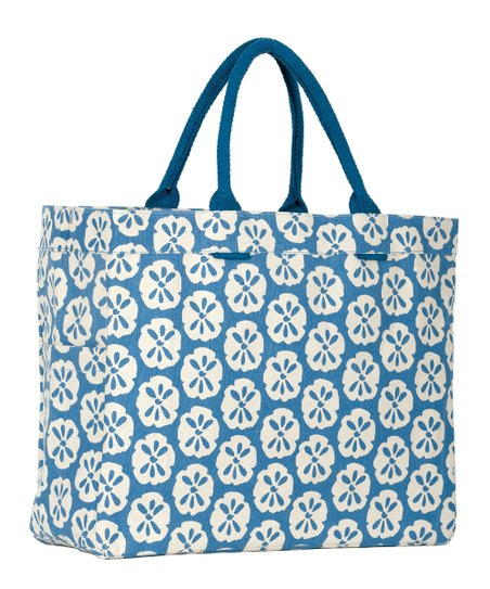 Blue Sand Dollar Carryall Tote