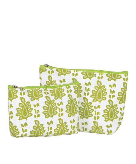 Lime Arles Cosmetic Bag Set
