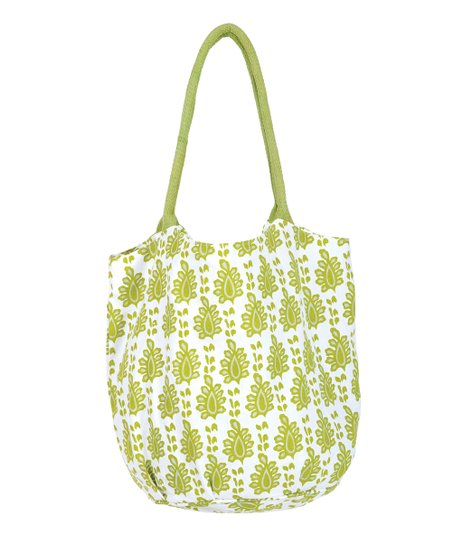Lime Arles Beach Bucket Bag