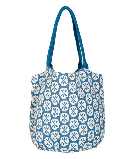 Blue Sand Dollar Beach Bucket Bag