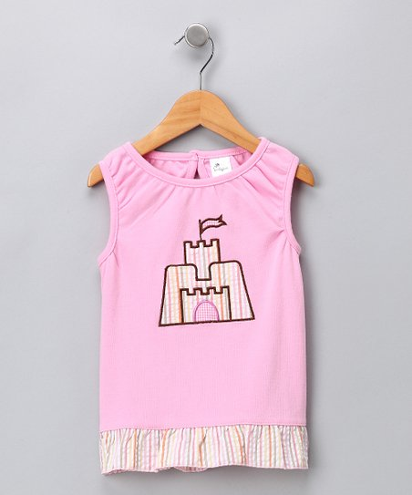 Pink Sandcastle Tank - Infant, Toddler & Girls