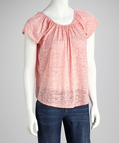 Peach Burnout Tee