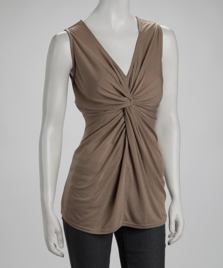 Toffee Twist-Front Top